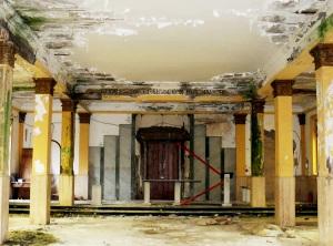 Fig. 18. Pompei, chiesa Sacro Cuore di Gesù, interno, scorcio verso il presbiterio.