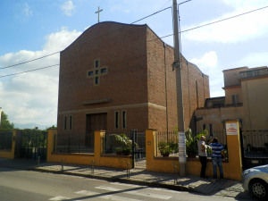 Fig. 19. Pompei, località Parrelle, chiesa S. Maria Assunta in cielo da via Nolana.