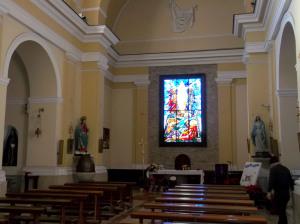 Fig. 8. Pompei, chiesa SS. Salvatore, interno, particolare dell'aula liturgica.