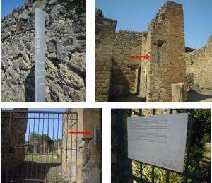 Segnaletica adottata nel sito e un esempio di pannello illustrativo presente.