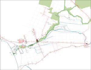 Fig. 2  Disegno dell'individuazione dei nuovi punti strategici sul fiume Sarno