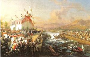 Fig. 17 _ Giovanni Sarritelli, 1858 'Rettifica del fiume Sarno', olio su tela, Museo Nazionale di San Martino, Napoli
