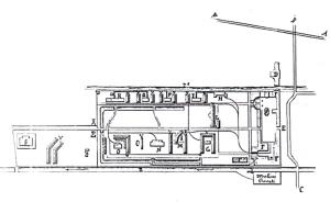 Fig. 20 _  Tavola di progetto del 1870 ad opera del Servizio del Genio Militare: terza fase