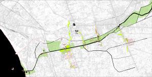 Fig. 13  Inserimento urbano dell'individuazione dei nuovi punti strategici sul fiume Sarno