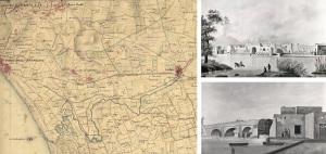 Fig. 14 _ IGM 1818 e due disegni anonimi dell'800: i Mulini Bottaro (sopra) e del Ponte Persico (sotto) rintracciabili nella planimetria